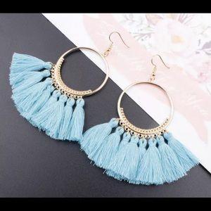 Jewelry - 🚨 5/$20 Light blue fringe tassel earrings